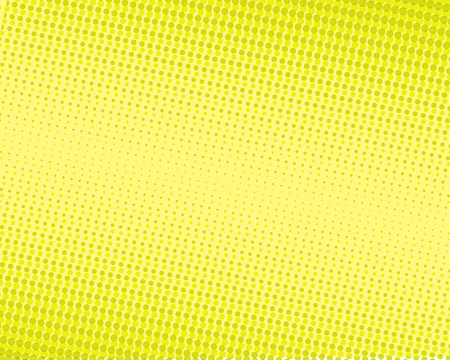 doted: Halftone dots on yellow background. Vector illustration
