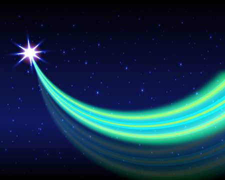 Vector illustration of abstract background with blurred magic neon light curved lines