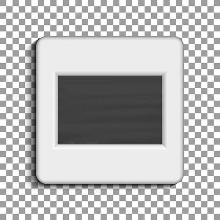 Realistic photographic slide. Retro design for photo presentation. Vector illustration