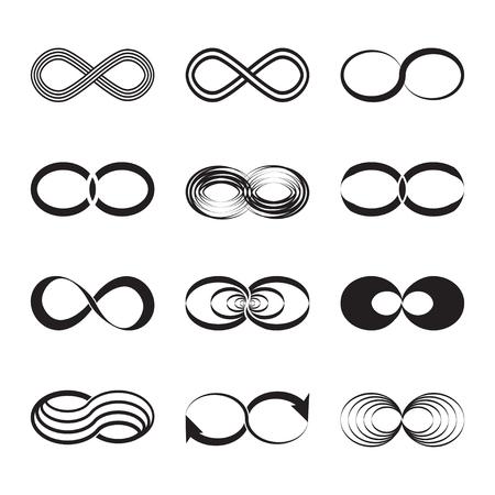 Infinity symbol icons illustration