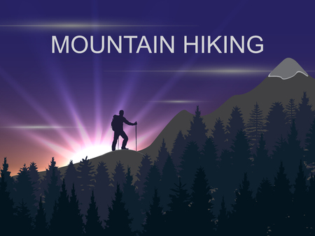 mountaineering: background on the theme of Climbing, Hiking, Trekking, Mountaineering. Extreme sports, outdoor recreation, adventure in the mountains. Vacation and outdoor recreation Concept