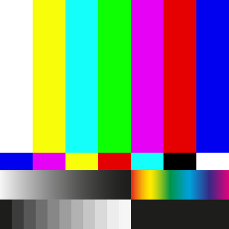 Test tv screen background and television error. illustration