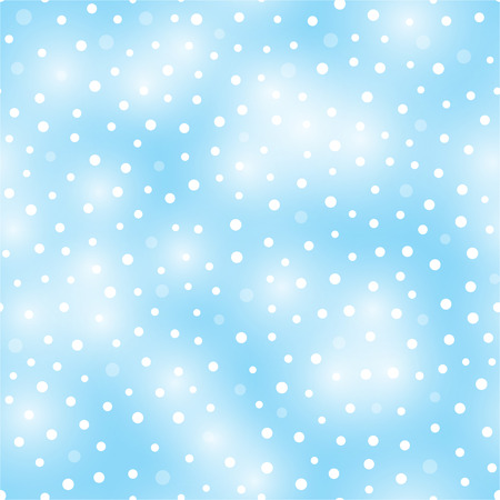 Winter background with falling snow on blue background. Seamless pattern. Vector illustration.