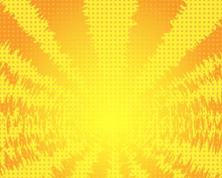 incineration: Blank comic speech bubble in pop art style on burst background