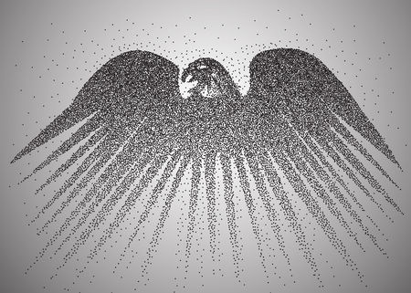 exceed: Particle Eagle, vector illustration composition