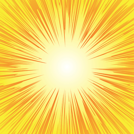 スーパー ヒーロー フレーム、漫画本ラジアル ライン背景、漫画やアニメ スピード グラフィック テクスチャ、爆発ベクトル図、カード、太陽光線  イラスト・ベクター素材