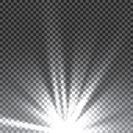 special effect: Vector transparent sunlight special lens flare light effect. Sun flash with rays and spotlight.