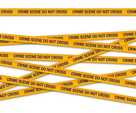 cordon: Crime scene do not cross yellow police tape. Vector illustration