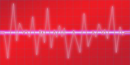 Sound waves oscillating glow, neon light, Spectrum analyzer. Music Equalizer. Amplitude Modulation. Abstract technology background , vector illustration.
