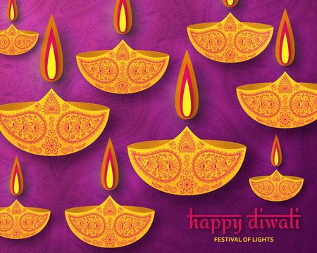 Greeting card for diwali festival celebration in india vector greeting card for diwali festival celebration in india vector illustration stock vector 87379137 m4hsunfo