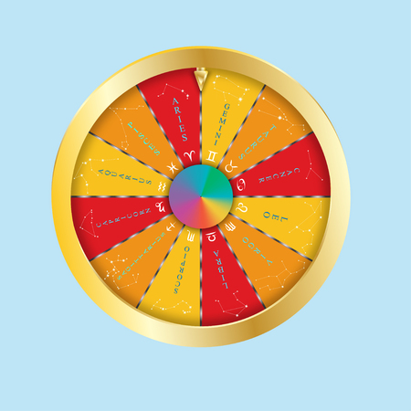 capricornio: Símbolos de luz del círculo del zodiaco y horóscopo, astrología y signos místicos, arte vectorial e ilustración.