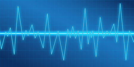 Sound waves oscillating glow. Abstract technology background vector illustration Vectores