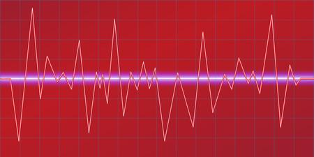 Sound waves oscillating glow, neon light, Spectrum analyzer. Music Equalizer. Amplitude Modulation. Abstract technology background , vector illustration