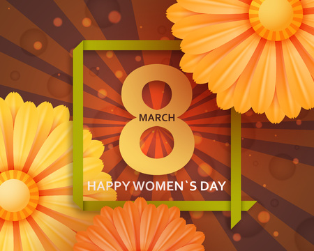 International Womens Day greeting card.