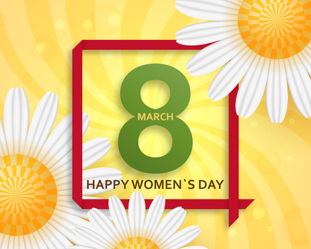 International Women's Day greeting card. Vectores