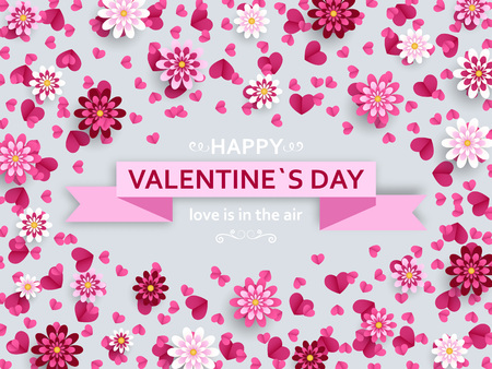 Happy Valentine Day background. Good design template for banner, greeting card, flyer.
