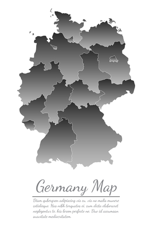 Concept map Of Germany on white background, vector illustration. Illustration