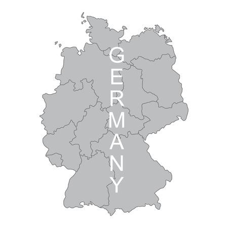 Concept map Of Germany on white background, vector illustration. Ilustração