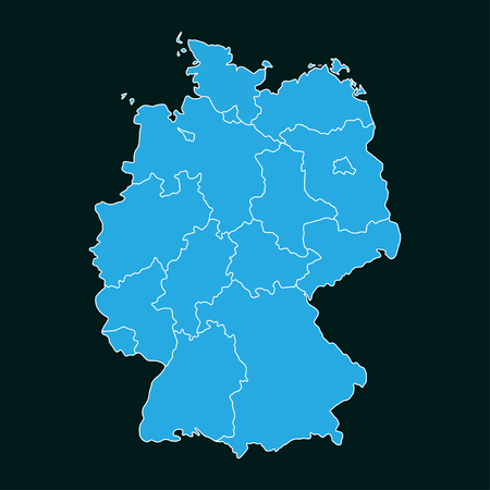 Concept map Of Germany on dark background, vector illustration.