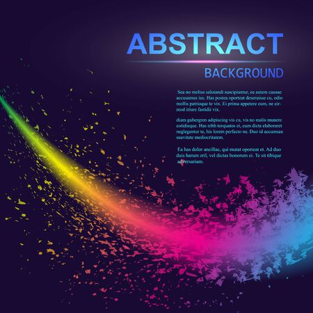 Dynamic abstract scattering particles background made of colored neon specks. Vector illustration. 일러스트
