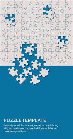 Jigsaw puzzle background with many pieces. Abstract mosaic template 向量圖像