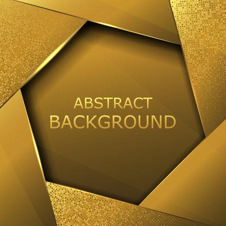 Abstract metallic golden black frame layout modern tech design template,vector ilustration
