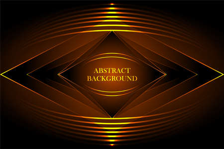 Gold black abstract background geometry shine and layer element vector for presentation design. Suit for business, corporate, institution, party, festive, seminar, and talks