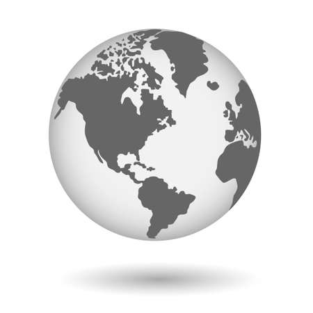 Globe shape in realistic style with Shadow