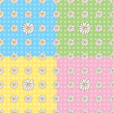 Seamless Daisy Pattern Stock Vector - 5424417
