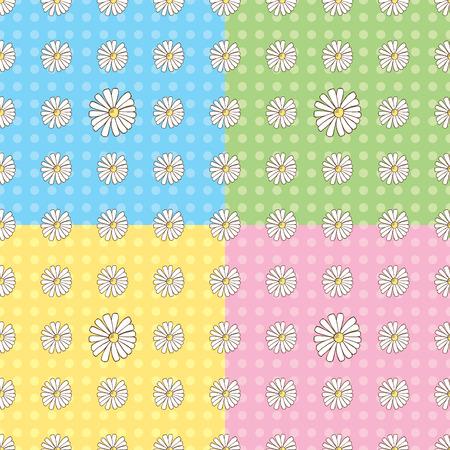 Seamless Daisy Pattern Stock Vector - 5424417