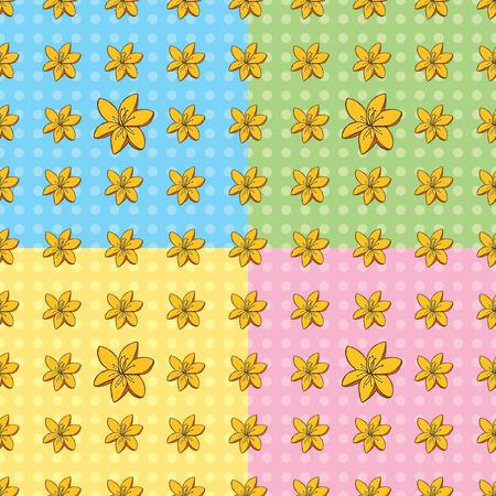 Seamless Tiger Lily Pattern
