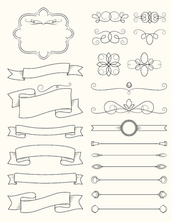 divider: Vintage Calligraphy Design Elements Three
