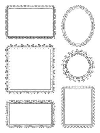 Ornate hand drawn frames