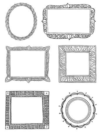 Cadres tiré par la main orné de trois Vecteurs