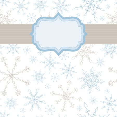 silver frame: Snowflake Banner Illustration
