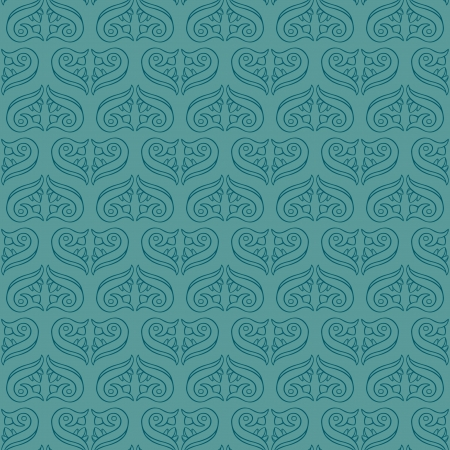 Seamless Elegant Turquoise Pattern Illustration