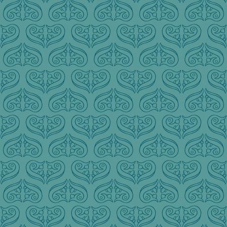 Seamless Elegant Turquoise Pattern Vettoriali