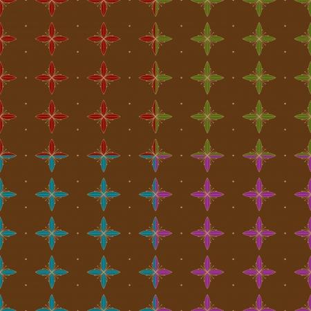 원활한 초록 꽃 패턴