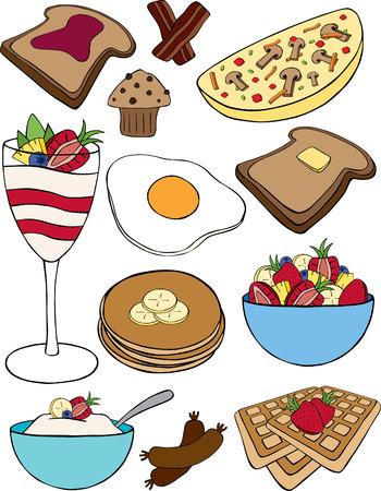 Breakfast Collection Vettoriali