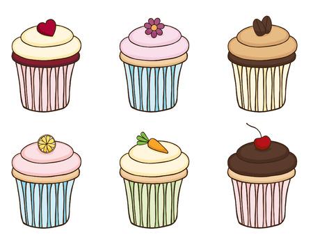 Doodle Cupcake Set