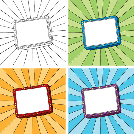 Doodle frame with sunbeam radial