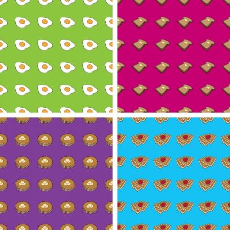 Naadloze Doodle Ontbijt Patronen Stockfoto - 25250840