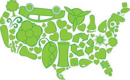 Eco Doodles United States Ilustração