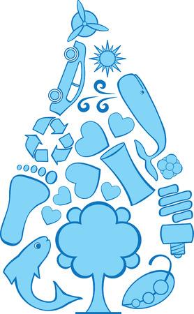 Eco Doodle Water Illusztráció