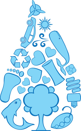 Eco Doodle Water Reklamní fotografie - 25250847