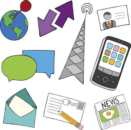 Communication Doodle Icons