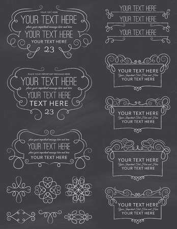 old fashioned: Vintage Chalkboard Calligraphy Design Elements Eight