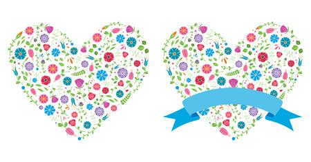 Flower Heart Vettoriali