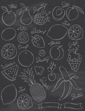 Chalkboard Fruits