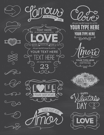 amore: Chalkboard Love Design Elements One